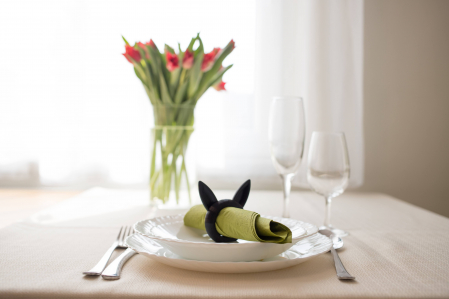 Bunny Napkin ring - negru [3]