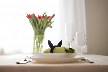 Bunny Napkin ring - negru [2]