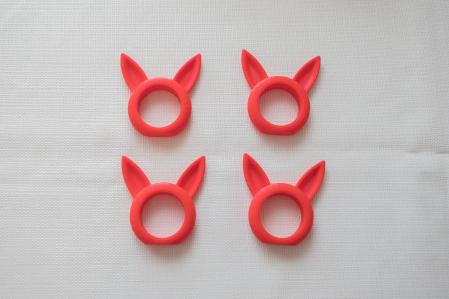 Bunny Napkin ring - rosu [4]