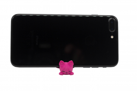 Cat keychain & phone stand - Pink [1]
