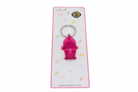 Cat keychain & phone stand - Pink [2]