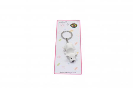 Dog keychain & phone stand - Alb [2]
