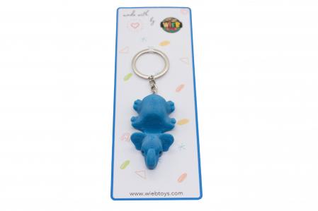 Elephant keychain & phone stand - Albastru [2]