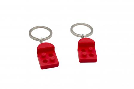 Heart bricks Couple keychain [1]