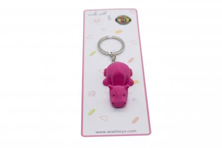 Hippo keychain & phone stand - Pink [2]