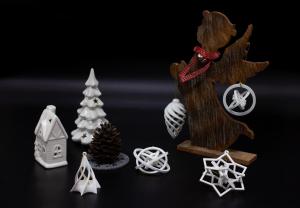Set decoratiune de brad 3D din bioplastic ALB [0]