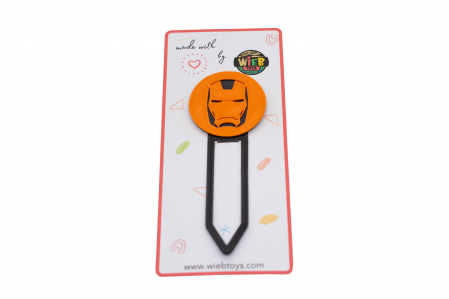 Iron Man bookmark - orange [0]