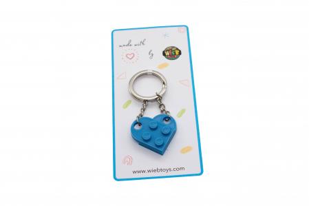 Lego couple keychain - albastru [2]