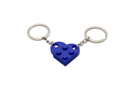 Lego couple keychain - albastru inchis [0]