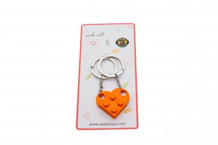Lego couple keychain - orange [2]
