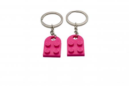 Lego couple keychain - pink [1]