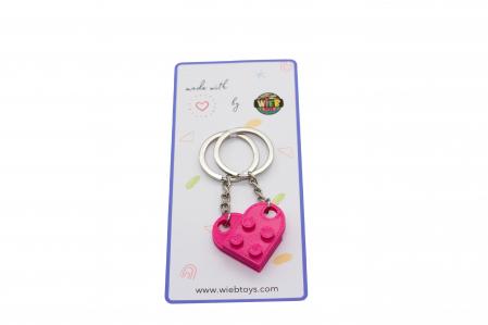 Lego couple keychain - pink [2]