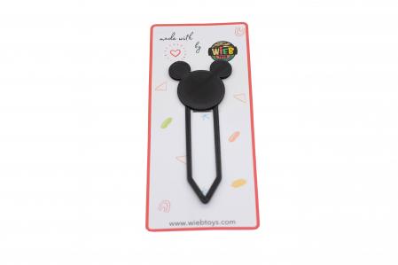 Mickey Mouse bookmark - negru [0]