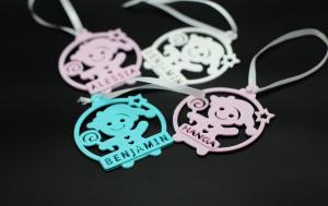 Ornament de brad personalizat cu nume - Baby boy [2]