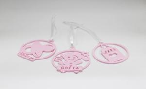 Ornament de brad personalizat cu nume - Baby girl [3]