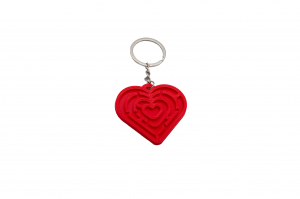Pair of Maze Hearts keychains [2]