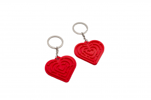 Pair of Maze Hearts keychains [0]