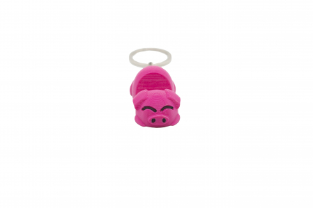 Pig keychain & phone stand - Pink [0]