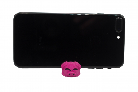 Pig keychain & phone stand - Pink [1]