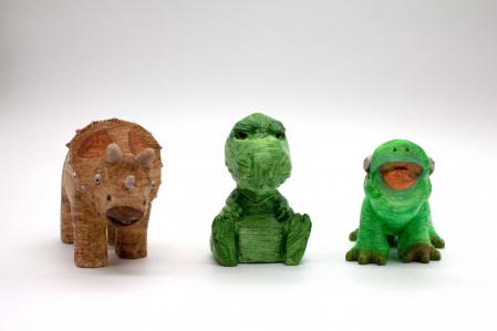 Set de pictat figurine de Dinozaurii (3 buc), culori acrilice 6x3ml [2]