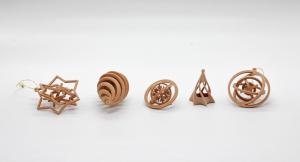 Set decoratiune din Lemn de Brad WiEB 3D [2]