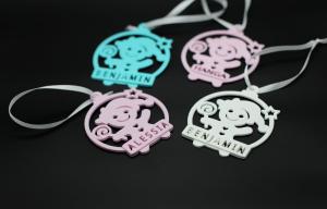Set Ornament de brad personalizat cu nume - Baby girl - 3 buc [2]