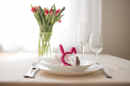 Sitting Rabbit Napkin ring - pink [2]