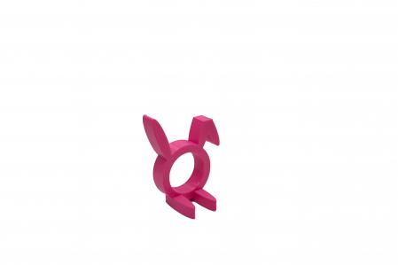 Sitting Rabbit Napkin ring - pink [1]