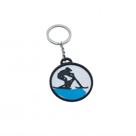 Ski bike keychain - albastru [0]