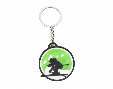 Ski keychain - verde [0]