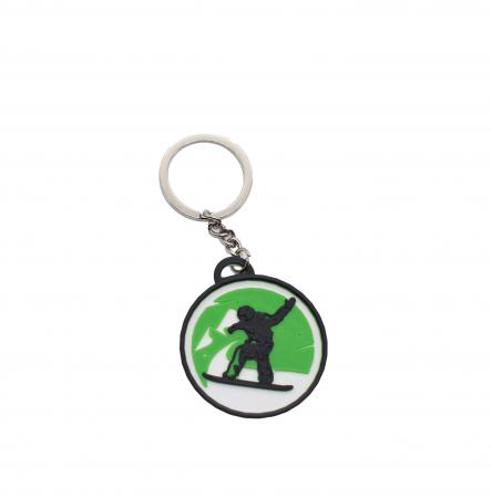 Snowboard keychain - verde [0]