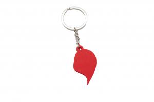 Splitted Heart Couple keychain [2]