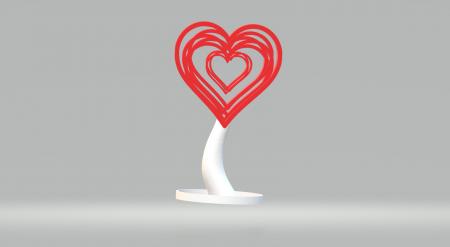 Suport casti forma de inima [0]