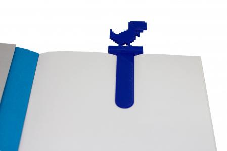 T-Rex bookmark - albastru [2]