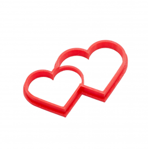 Valentine's day cookie cutter -  Double Hearts [0]
