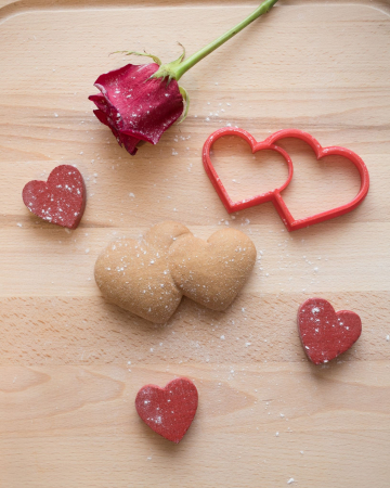 Valentine's day cookie cutter -  Double Hearts [3]