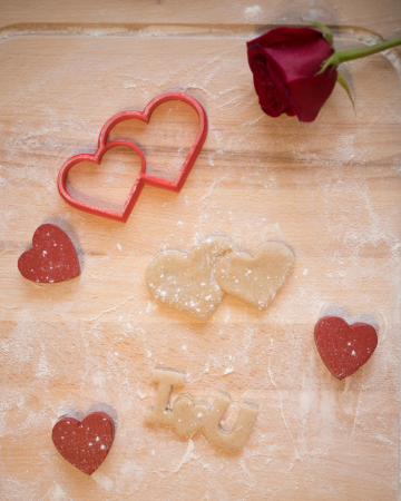 Valentine's day cookie cutter -  Double Hearts [1]