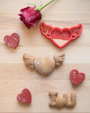 Valentine's day cookie cutter - Fly Heart [2]