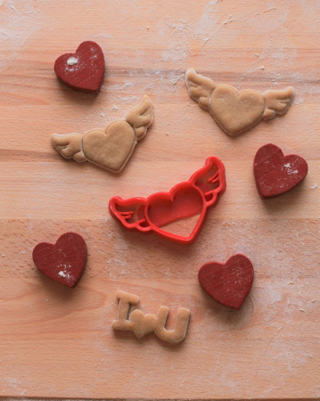 Valentine's day cookie cutter - Fly Heart - small [1]