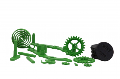 Wind-up Car kit, 16 pieces,  Green [1]