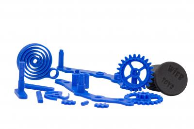 Wind-up Car kit, 16 pieces,  Blue [1]