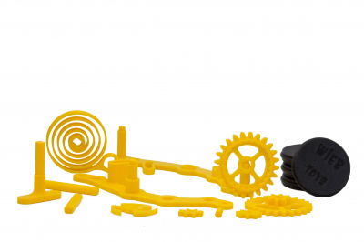 Wind-up Car kit, 16 pieces,  Yellow [1]