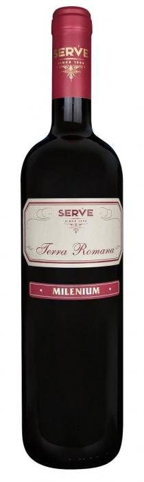S.E.R.V.E. TERRA ROMANA MILENIUM ROSU 0.75L [0]