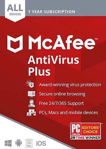 Antivirus McAfee Plus - dispozitive nelimitate / 1 an [0]