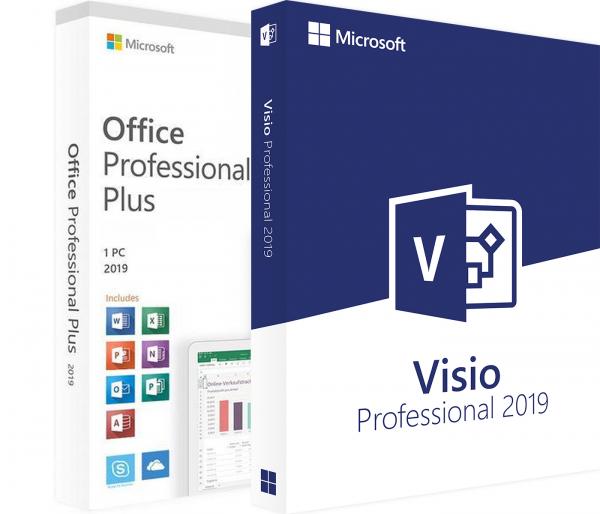 Pachet : Office 2019 Pro + Visio Professional 2019 retail [0]