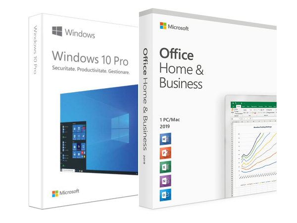 Pachet Business: Windows 10 Pro + Office 2019 Home and Business [0]