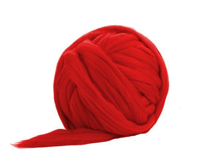 Fir gigant lana merino Scarlet 0