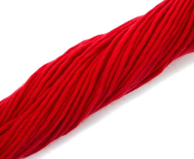 Fire super chunky lana Merino Scarlet 2
