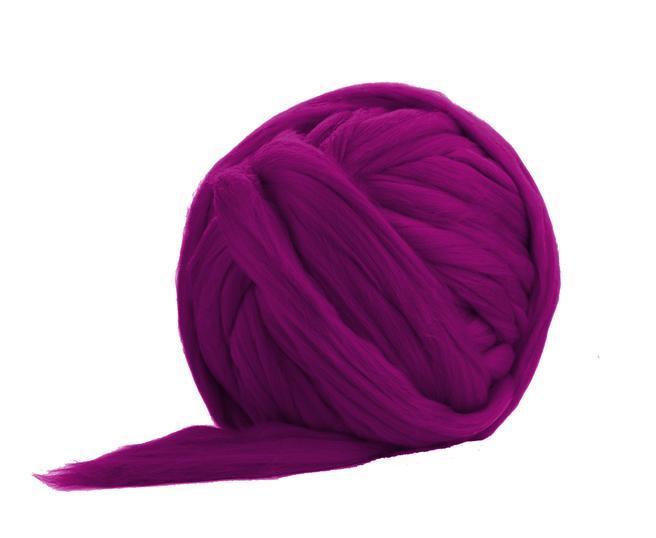 Fir gigant lana merino Fuchsia 0