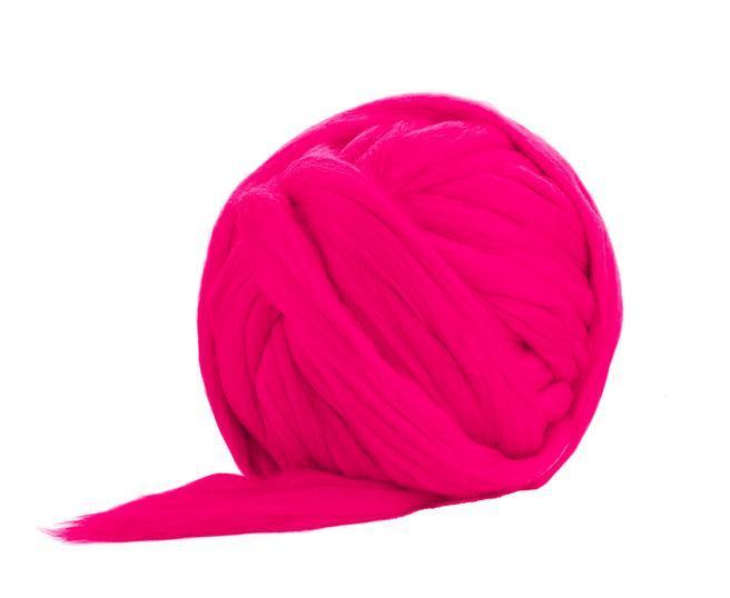 Fir gigant lana merino Hot Pink 0